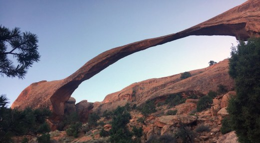 Landscape Arch: It's famous enough to be on the park's information pamphlet.