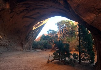 This picture doesn't do the magical hideaway of Navajo Arch justice. You should check it out for yourself.