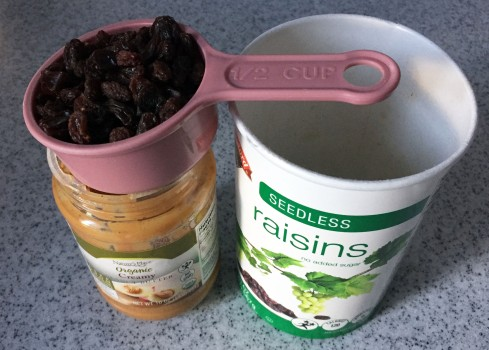 Substitute dried cranberries or blueberries for half to all of the raisins to mix things up.